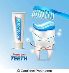 Dental concept Of Teeth Protection
