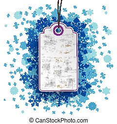 Price Sticker Blue Snowflakes Percents - Purple price...