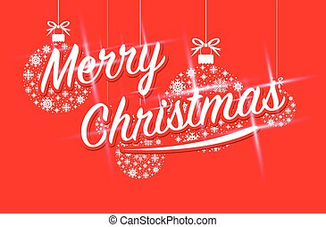merry christmas sparkling text