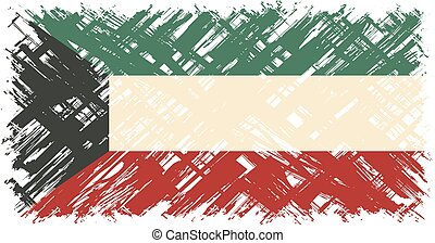 Kuwait grunge flag Vector illustration Grunge effect can be...