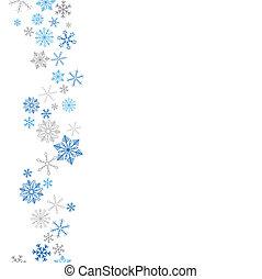 Christmas Blue Gray Snowflakes - Snowflakes on the white...