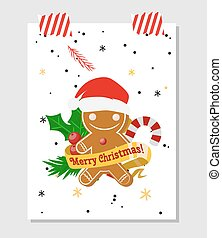 Christmas tree flat icons set - Christmas greeting cards...