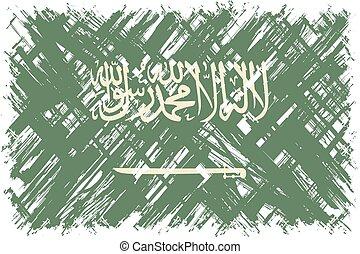 Saudi Arabian grunge flag Vector illustration Grunge effect...