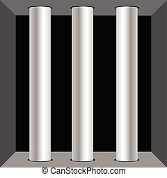 prison window for background vector illustration - prison...