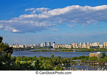 banks of the Dnieper - view on Kiev from the banks of the...