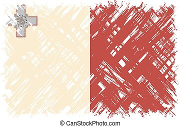 Maltese grunge flag Vector illustration Grunge effect can be...