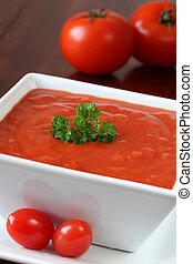 Tomato soup - Delicious homemade tomato soup with onion and...