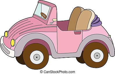 Small car pink