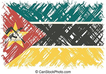 Mozambique grunge flag Vector illustration Grunge effect can...