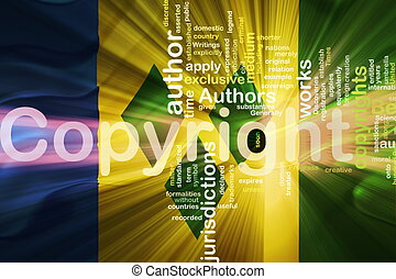 Flag of Saint Vincent and Grenadines wavy copyright law -...