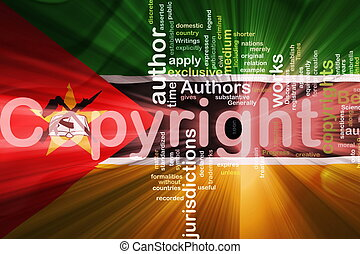 Flag of Mozambique wavy copyright law - Flag of Mozambique,...
