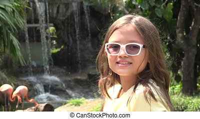 Female Child Wearing Glasses
