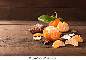 clementines - Ripe juicy tangerine, orange mandarin with...