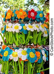 flores, primavera,  artificial