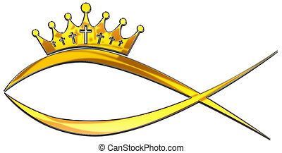 Fisch - A fish with a crown of thorns