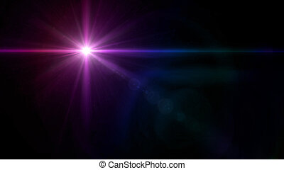twinkle star lens flare purple - abstract image of lens...