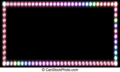 Flashing Lights Frame - Stock CGI 1080i Video Footage of...