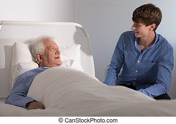 Hospice patient with a caregiver