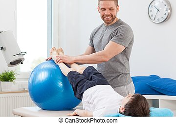 Exercise with large ball