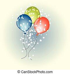 Three vector balloons