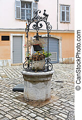 Water Well - Decorative Stone Water Well in Rovinj Croatia