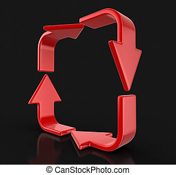 Arrow loop. Image with clipping path