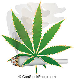 Marijuana-Cannabis - Illustration of marijuana as a symbol...