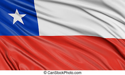3D Chilean flag