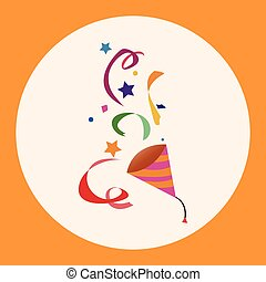 party horn theme elements vector,eps