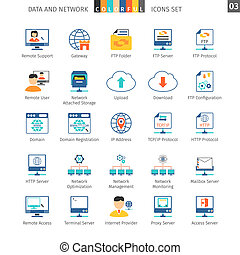 Networks Set 03 - Data And Networks Colorful Icon Set 03