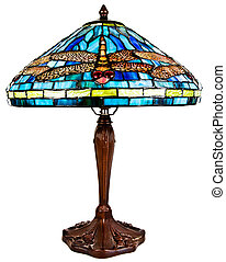 Stained Tiffany Glass Table Lamp