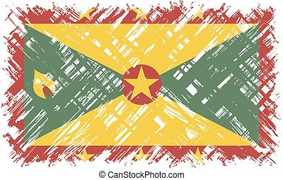 Grenada grunge flag. Vector illustration. Grunge effect can...