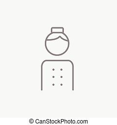 Bellboy line icon. - Bellboy line icon for web, mobile and...