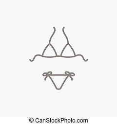 Swimsuit for women line icon. - Swimsuit for women line icon...