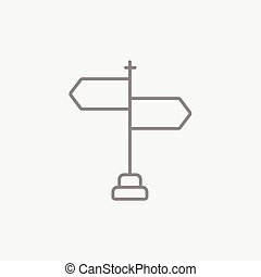 Travel traffic sign line icon - Travel traffic sign line...