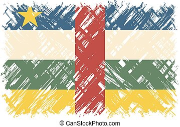 Central African Republic grunge flag Vector illustration...