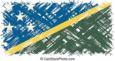 Solomon Islands grunge flag Vector illustration Grunge...