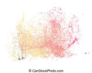 red yellow brush strokes oil paint - photo light red yellow...
