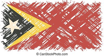 Timor-Leste grunge flag Vector illustration Grunge effect...