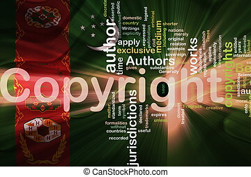 Flag of Turkmenistan wavy copyright law - Flag of...