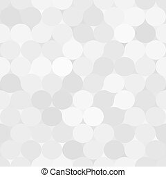 Pale gray vector seamless pattern with circles. Monochrome...