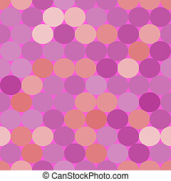 Purple,pink and orange vector seamless pattern with circles...