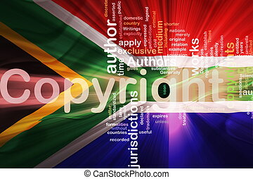 Flag of South Africa wavy copyright law - Flag of South...