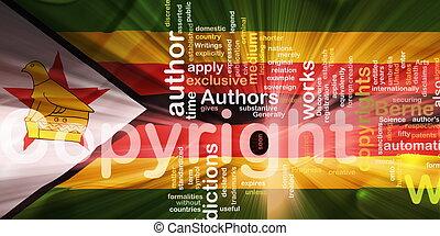 Flag of Zimbabwe wavy copyright law - Flag of Zimbabwe,...