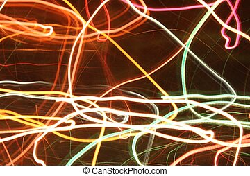 Abstract light image - colored leds in motion