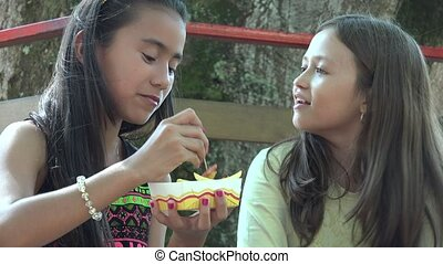 Best Friends Eating Junk Food