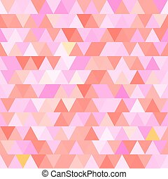 Pink vector seamless pattern with triangles. Abstract background.