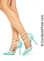 Female legs in High Heels Shoes, XXXL image - Female legs in...