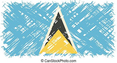 Saint Lucia grunge flag Vector illustration Grunge effect...