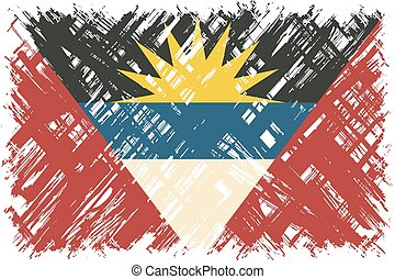 Antigua and Barbuda grunge flag Vector illustration Grunge...